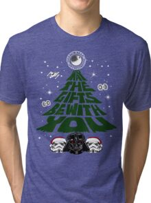 May the Gifts Be With You Funny Christmas Tri-blend T-Shirt