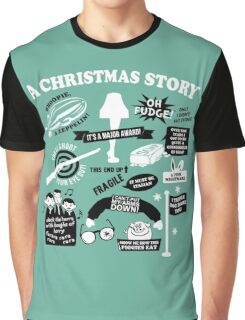 Christmas Story Quotes T-Shirt Graphic T-Shirt