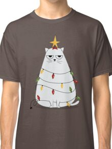 Grumpy Christmas Cat Classic T-Shirt