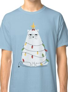 Grumpy Christmas Cat Classic T-Shirt