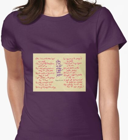 The Warning - When I am an old woman I shall wear purple Womens Fitted T-Shirt