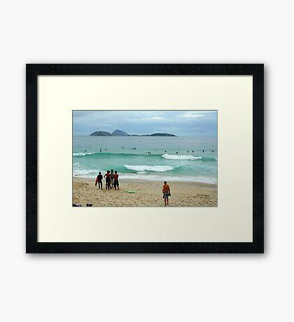 Ipanema beach, Brazil Framed Print
