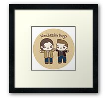 W Brothers Hugs Framed Print