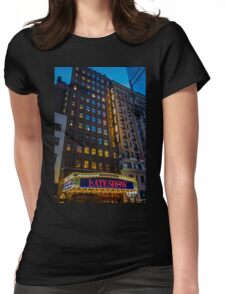 Broadway, New York City, USA. Womens Fitted T-Shirt