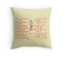 The Warning - When I am an old woman I shall wear purple Throw Pillow