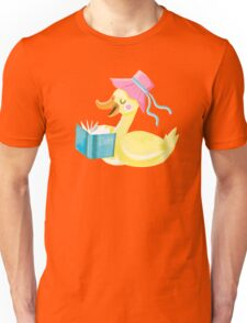 Mother duck reading story time Unisex T-Shirt