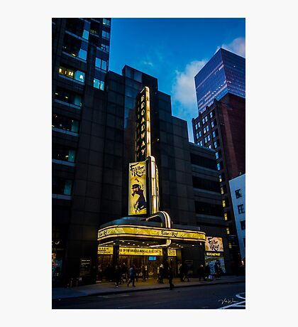 The Broadway Theatre, Broadway, New York City, USA. Photographic Print