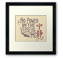 No Power In The Verse Framed Print