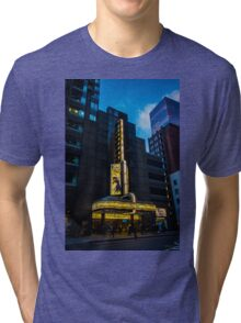 The Broadway Theatre, Broadway, New York City, USA. Tri-blend T-Shirt