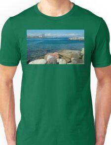 Barcelona sea landscape Unisex T-Shirt