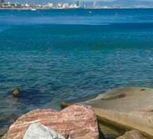 Barcelona sea landscape Sticker