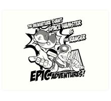 Epic Adventures! Art Print