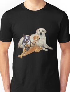 Dog posse with lab Unisex T-Shirt