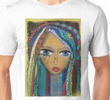 Girl with coloured hair Unisex T-Shirt