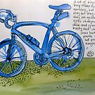 the blue bike by Evelyn Bach