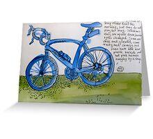 the blue bike Greeting Card