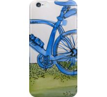 the blue bike iPhone Case/Skin