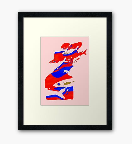 The girl who cried fishes Framed Print