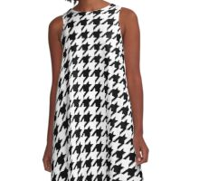Houndstooth Pixel Gamer – A Line Dress A-Line Dress
