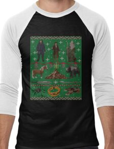 Hobbit Christmas Sweater T-Shirt Men's Baseball ¾ T-Shirt