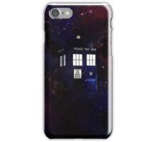 Doctor Who TARDIS in galaxy iPhone Case/Skin
