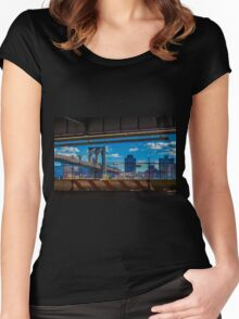 Brooklyn Bridge, New York, USA. Women's Fitted Scoop T-Shirt