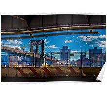 Brooklyn Bridge, New York, USA. Poster
