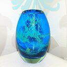 Mediterranean Blue - Mdina Glass Vase by BlueMoonRose