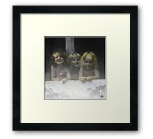 Daycare Kids Framed Print