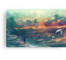 The girl who loved the sea Canvas Print