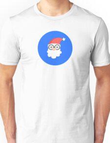 Santa on Blue Unisex T-Shirt