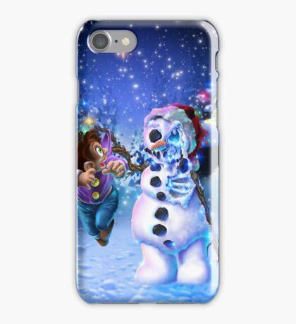 undead snowman  iPhone Case/Skin