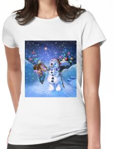 undead snowman  Womens Fitted T-Shirt