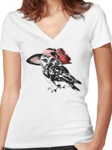 Owl Be Having All The Fun Tonight Women's Fitted V-Neck T-Shirt