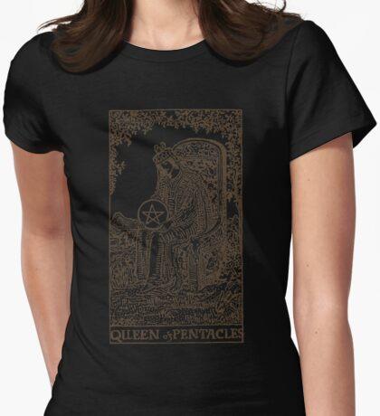Queen of Pentacles Womens Fitted T-Shirt