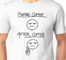 Before Coffee After Coffee Unisex T-Shirt