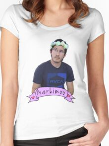 Markiplier (Level: Flower crown) Women's Fitted Scoop T-Shirt