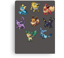 Pixel Eeveelutions V.2 Canvas Print