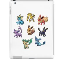Pixel Eeveelutions V.2 iPad Case/Skin