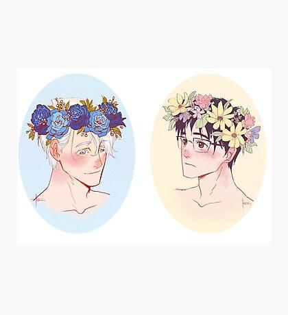 Victuuri Flower Crowns Photographic Print