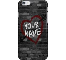 Name tattooed in an arrow heart iPhone Case/Skin