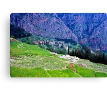 High up Mt. Parnassus, above Delphi, Greece 1960 Canvas Print
