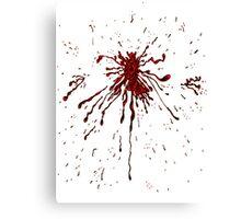 Blood & Bullet wounds Canvas Print