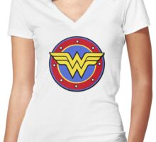 Wonder Woman Women's Fitted V-Neck T-Shirt