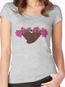 Tough as Nails [Hand tone 1] Women's Fitted Scoop T-Shirt