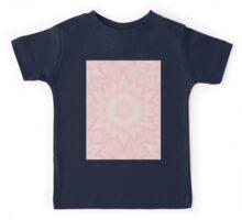 Delicate kaleidoscope in Baby Pink Kids Tee