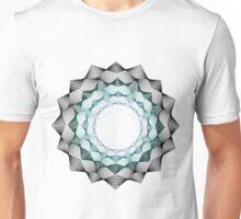 Black and Blue Blend Flower Unisex T-Shirt