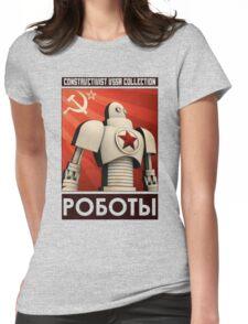 robot ussr steampunk Womens Fitted T-Shirt