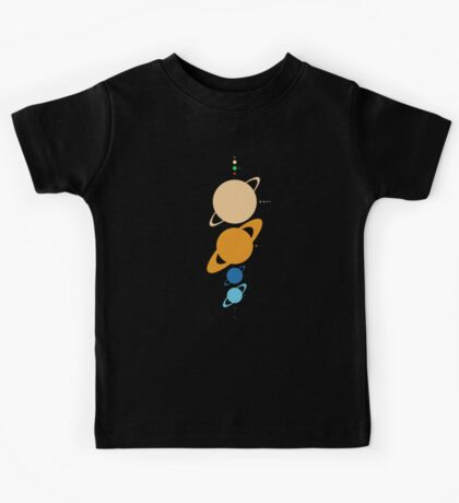 Planets And Moons To Scale Kids Tee
