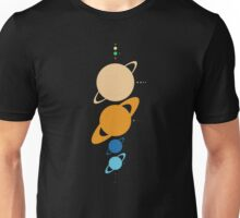 Planets And Moons To Scale Unisex T-Shirt